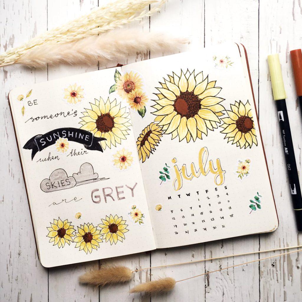 Retno Ika's Bullet Journal Setup for July